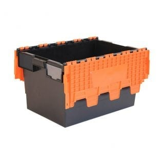 Attached Lid Container Black / Orange
