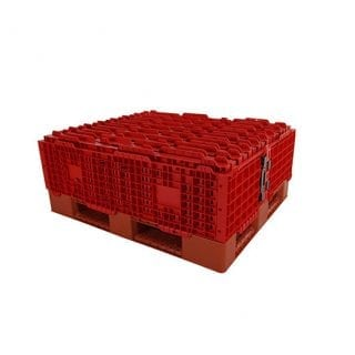 Plastic Pallet Collars Red