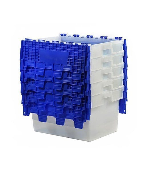 Attached Lid Container Blue