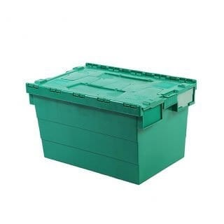 Attached Lid Container Green