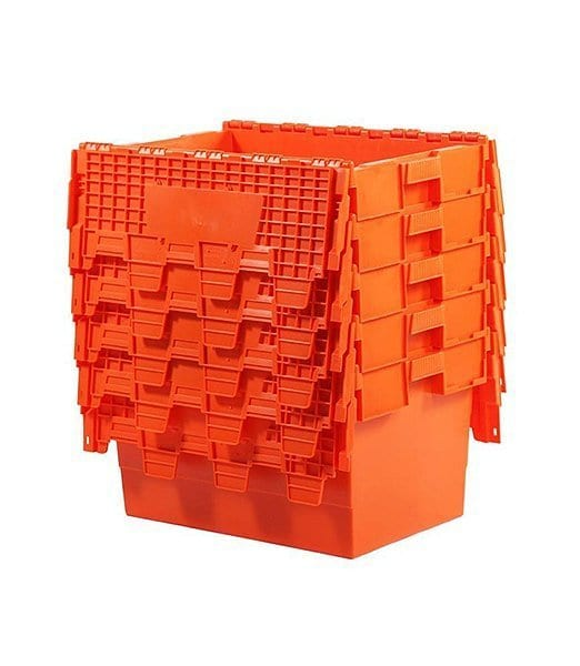 Attached Lid Container Orange