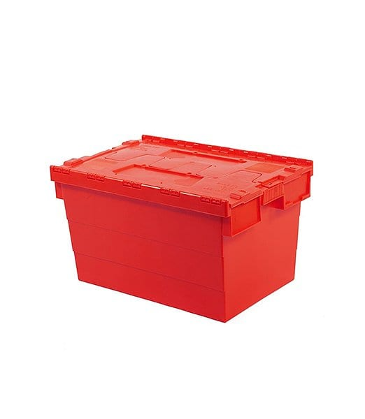 Attached Lid Container Red