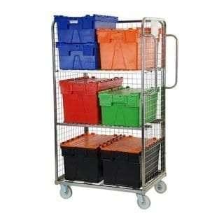 Three Sided Merchandising Picking Trolley