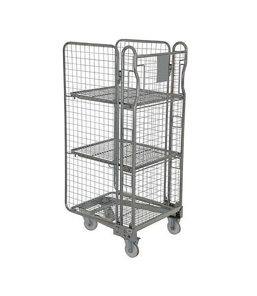 Three Sided Mesh Cage Formed Handle Holds