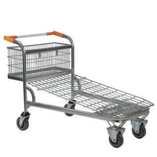 Wire Mesh Cash & Carry Trolley