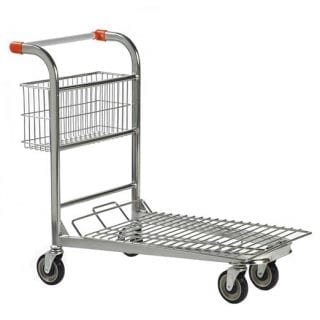 Nestable Stock Trolley Fixed Basket