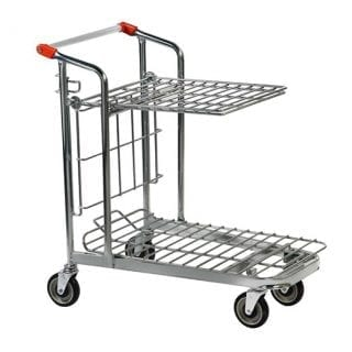 Nestable Stock Trolley Folding Shelf